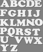 Hobbymateriaal alfabet 3 setjes