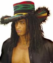 Hoge rasta hoed voor volwassenen