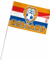 Holland supporters zwaaivlaggetjes