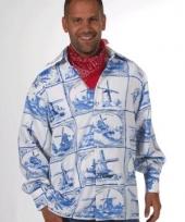 Hollands delfts blauw overhemd