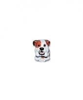 Honden beeldjes zittende bulldog pup 13 cm