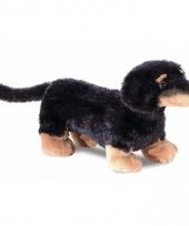 Honden knuffeltje teckel 20 cm