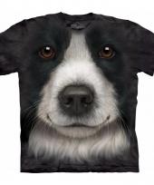Honden t-shirt border collie voor volwassenen
