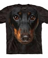 Honden t-shirt pincher voor volwassenen