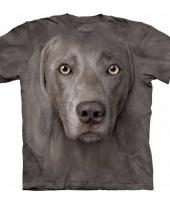 Honden t-shirt weimaraner voor volwassenen
