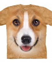 Honden t-shirt welsh corgi pembroke voor volwassenen