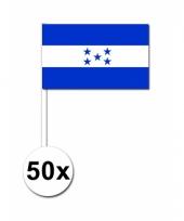 Honduras zwaai vlaggetjes 50 stuks