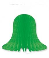 Honeycomb klok groen 20 cm