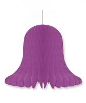 Honeycomb klok violet 20 cm