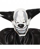 Horror clown masker zwart voor volwassenen