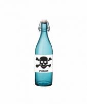 Horror decoratie fles blauw met gif