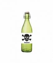 Horror decoratie fles groen met gif