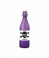 Horror decoratie fles paars met gif