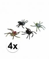 Horror insecten spinnetjes 4 stuks 10 cm