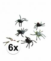 Horror insecten spinnetjes 6 stuks 10 cm