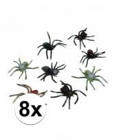 Horror insecten spinnetjes 8 stuks 10 cm