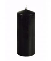 Horror stompkaars zwart 18 cm