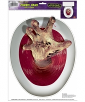 Horror wc bril sticker zombie hand