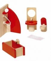 Houten badkamer meubeltjes voor poppenhuis