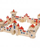 Houten bouwblokken kasteel voor kinderen 145 delig