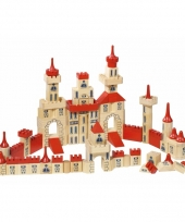Houten bouwblokken kasteel voor kinderen 150 delig