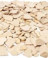 Houten hartjes in diverse formaten 60x