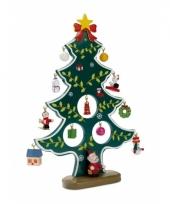 Houten kerstboom inclusief hangers