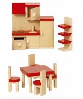 Houten keuken meubeltjes voor poppenhuis
