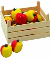 Houten kist met appels