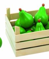 Houten kist met peren