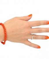 Houten kralen armband oranje