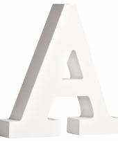 Houten letter a 11 cm