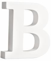 Houten letter b 11 cm