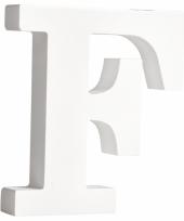 Houten letter f 11 cm