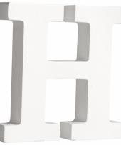 Houten letter h 11 cm