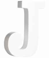 Houten letter j 11 cm