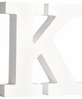 Houten letter k 11 cm