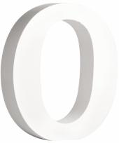 Houten letter o 11 cm