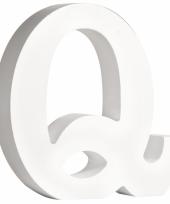 Houten letter q 11 cm
