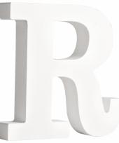 Houten letter r 11 cm