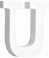 Houten letter u 11 cm