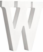 Houten letter w 11 cm