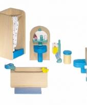 Houten moderne badkamer meubeltjes voor poppenhuis