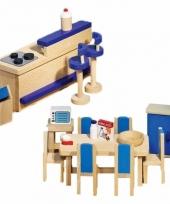 Houten moderne keuken meubeltjes voor poppenhuis