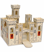 Houten speelgoed kasteel medieval