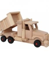 Houten speelgoed zandwagen