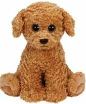Huisdieren knuffels honden bruin 24 cm ty beanie luke