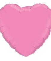 Huwelijk roze hart folie ballon 45 cm