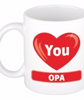 I love you opa cadeau koffiemok beker 300 ml