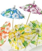 Ijs parasols bloemen 24 stuks